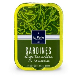 Sardines aux olives tranchées et au romarin