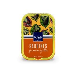Sardines à l'huile de colza et aux poivrons grillés