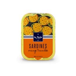 Sardines à l'huile de colza et à l'orange tranchée