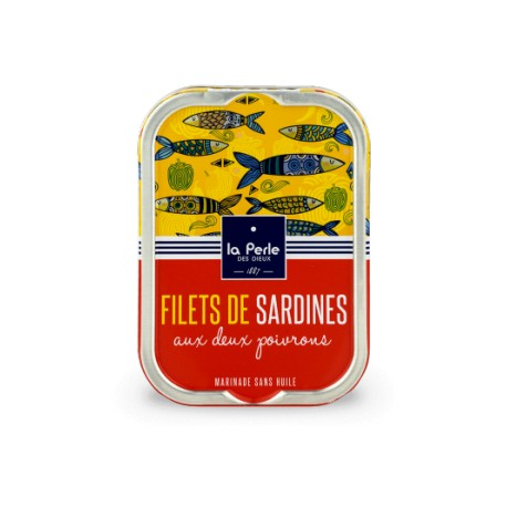 Filets de sardines sans huile aux deux poivrons
